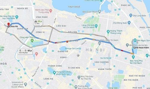 cách đi đến chùa Hà