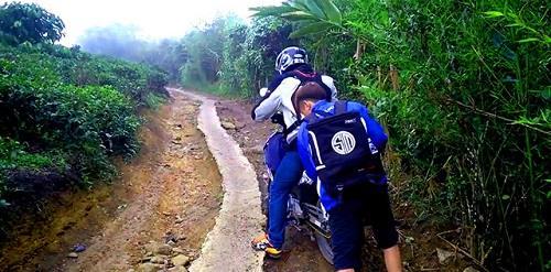 đường đến chùa Linh Quy Pháp Ấn