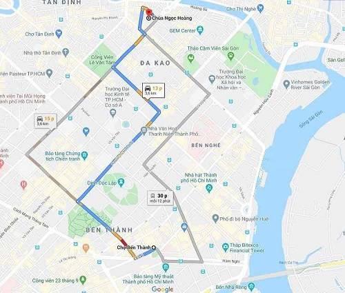 Cách đi đến chùa Phước Hải cầu Duyên