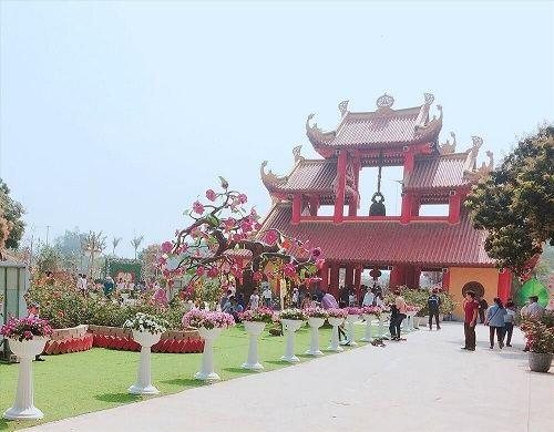 gác khách chùa khai nguyên ở sơn tây