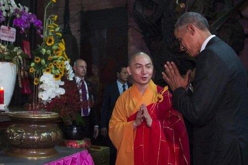 Chùa Ngọc Hoàng từng đón tiếp tổng thống B.Obama