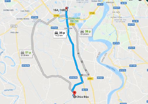 đường đi chùa đậu