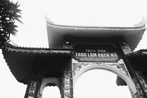 Tam quan Thiền viện trúc lâm Huế