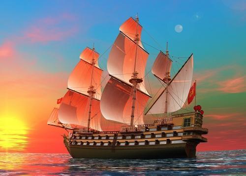 tranh thuận buồm xuôi gió đẹp
