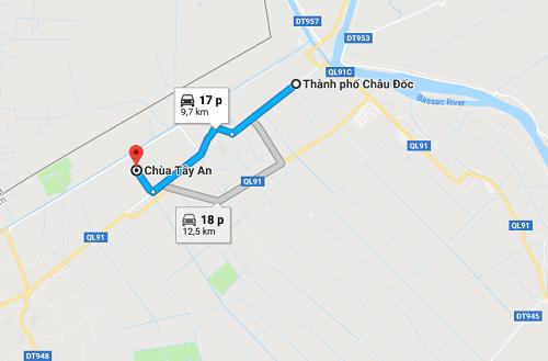 đường đi đến chùa tây an