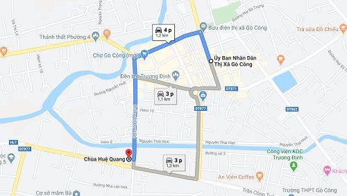 Cách đi đến chùa Huệ Quang