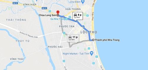 Cách đi đến chùa long sơn Nha Trang
