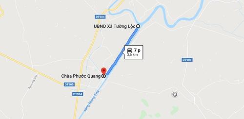 Cách đi đến chùa Phước Quang