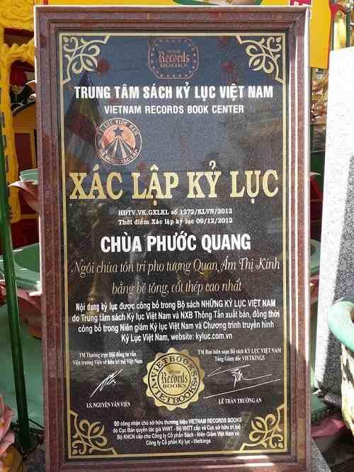 kỷ lục chùa Phước Quang