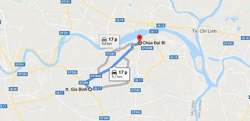Cách đi đến chùa Đại Bi