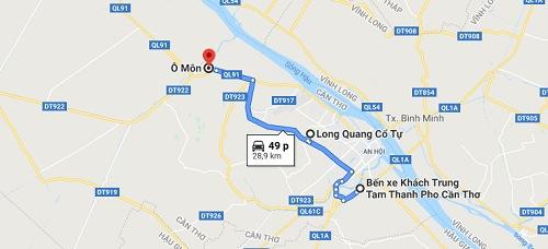 Hướng dẫn đi đến chùa Long Quang