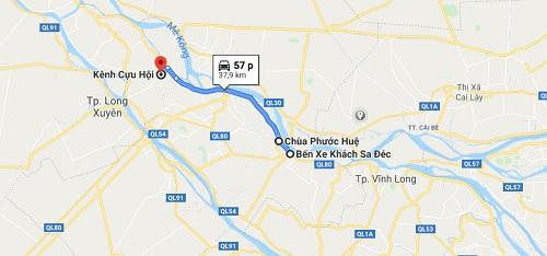 Cách đi đến chùa Phước Huệ