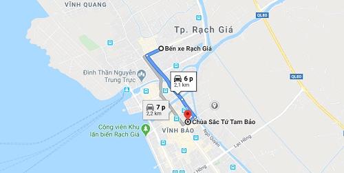 Hướng dẫn đường đi đến chùa Tam Bảo
