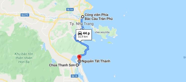 Hướng dẫn đường đi đến chùa Thanh Sơn