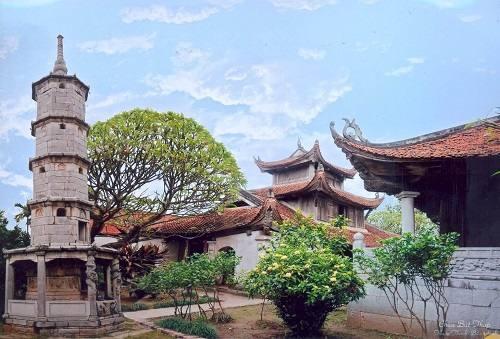 Kết cấu chung của chùa Bút Tháp