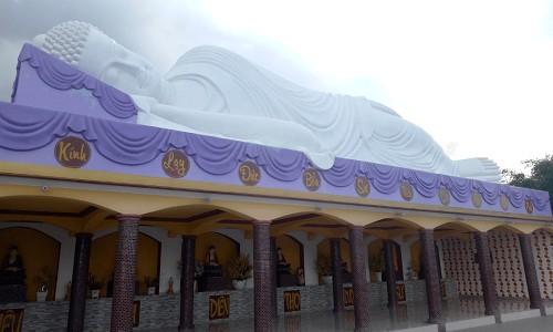 tượng phật nhập niếp bàn chùa phật học 2
