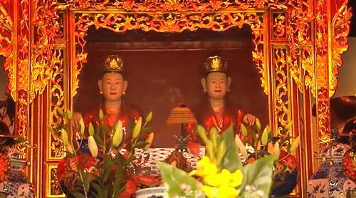 nhị vị Bồ Tát chùa hưng long